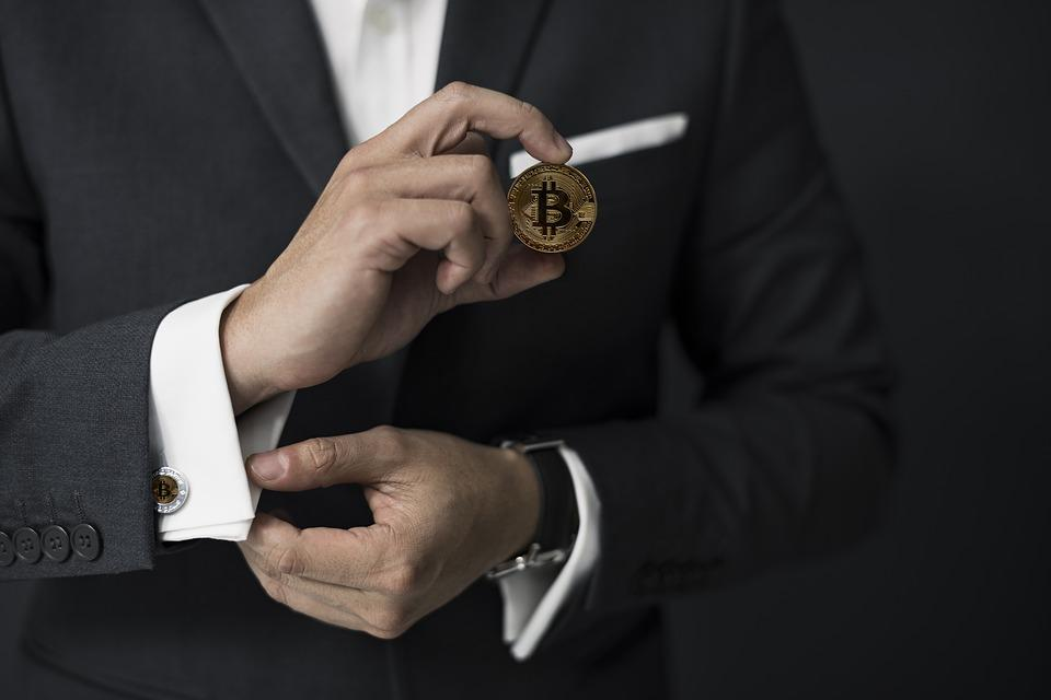 Man, Business, Adult, Suit, Bitcoin, Cryptocurrency