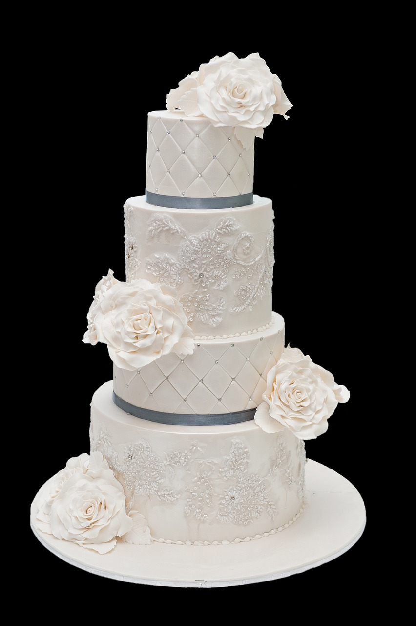 Wedding Flowers:  Wedding Cake