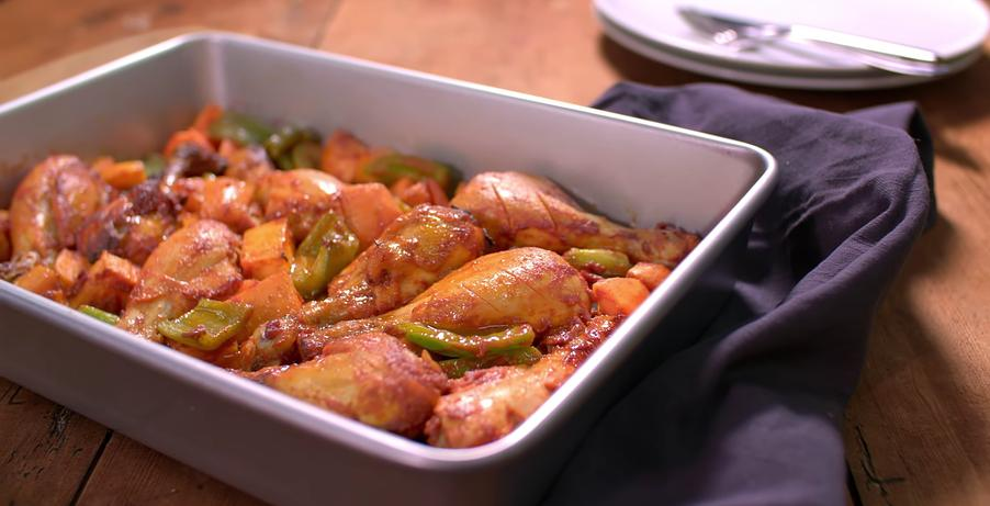 Peri Peri Chicken with Sweet Potatoes & broccoli