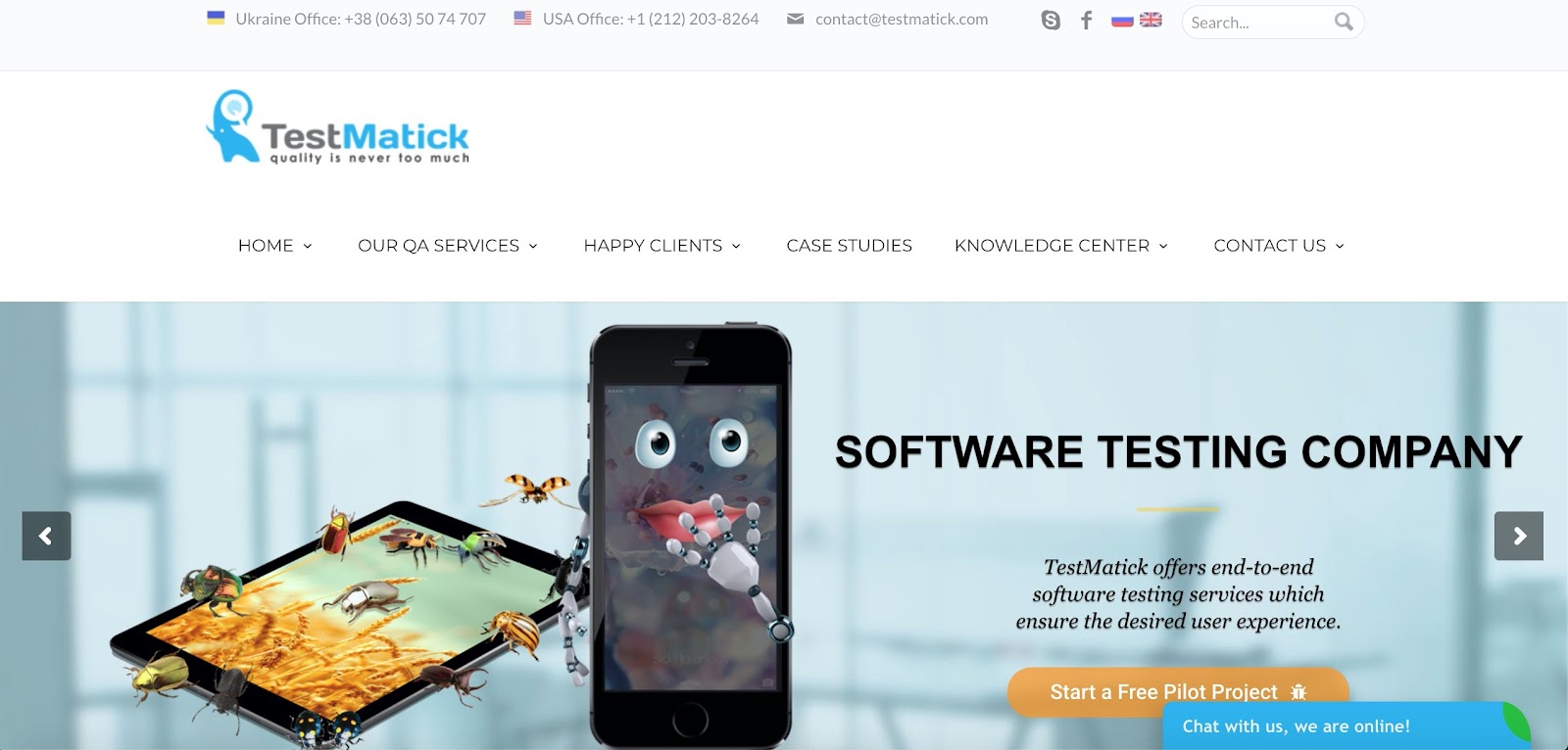 TestMatick is one of the Software Testing Companies
