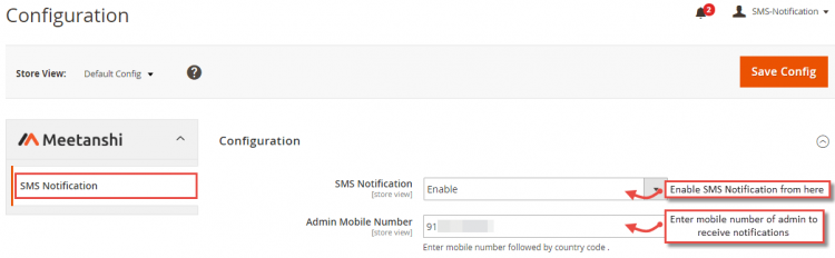 SMS Magento extension