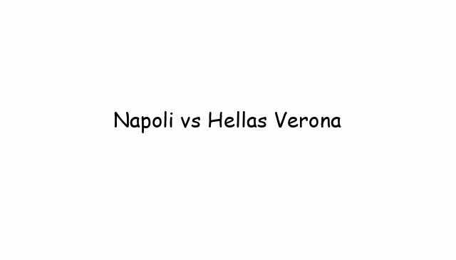 Napoli vs Hellas Verona