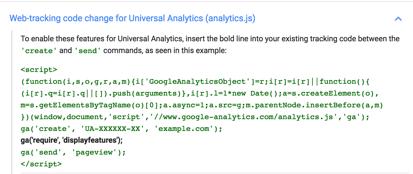 Modifying Google Analytics Tracking Code