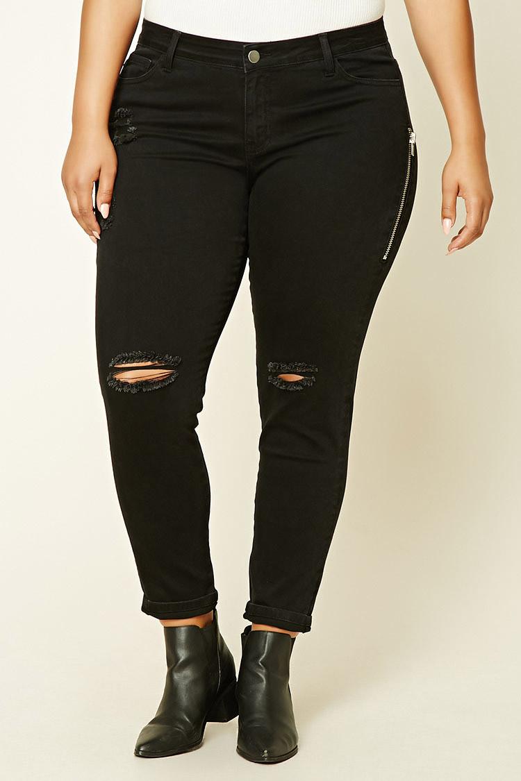 Plus Size Mid-Rise Jeans