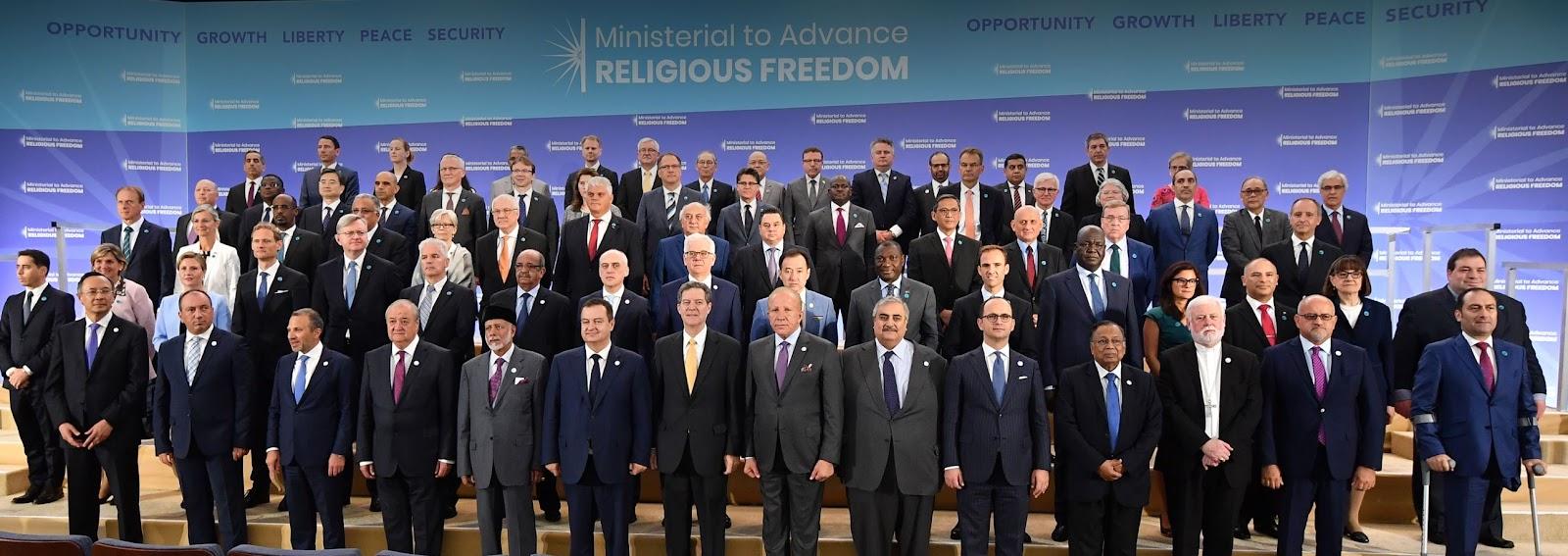 Ngoại trưởng Hoa Kỳ Mike Pompeo khai mạc hội nghị Ministerial to Advance Religious Freedom