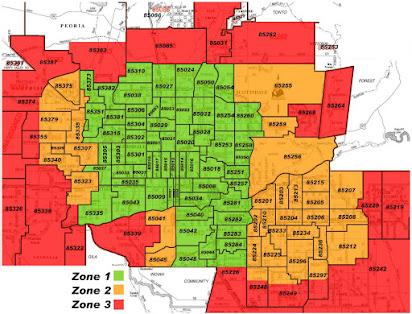 Peoria Arizona Zip Code Map Free