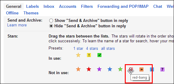 Image result for use different coloured stars in gmail