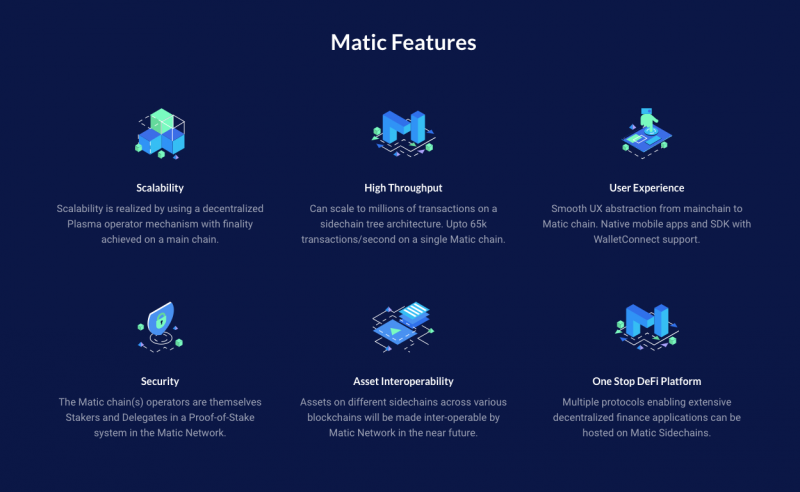 Main Features of Matic Cryptocurrency