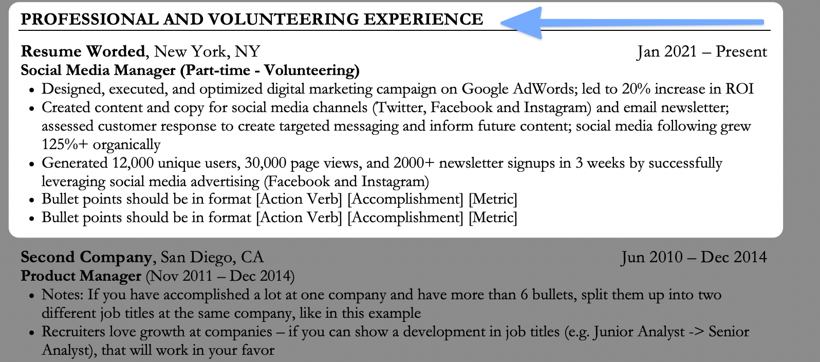 Volunteer work should be included on your resume, especially if it is relevant