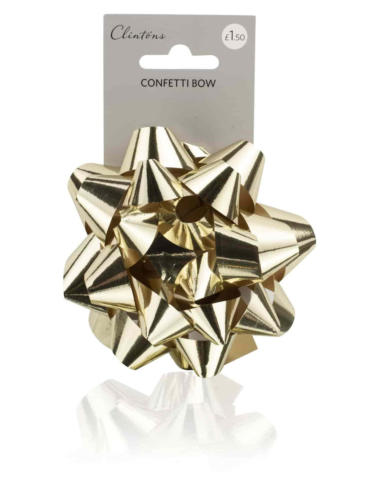 Elegant Wedding Gift Wrapping Ideas; Clintons Metallic Gold Confetti Gift Bow