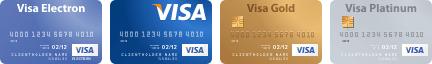 Оплата покредитным картам VISA