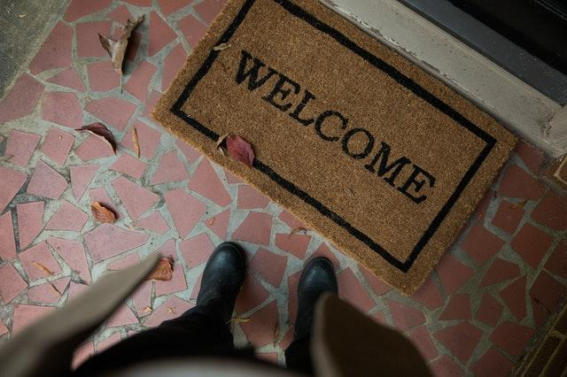 welcome mat helps to make your small home inviting