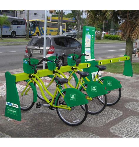 As estações do Bicicletar estão distribuídas nos principais pontos de Fortaleza. (Fonte: Bicicletar/Reprodução)