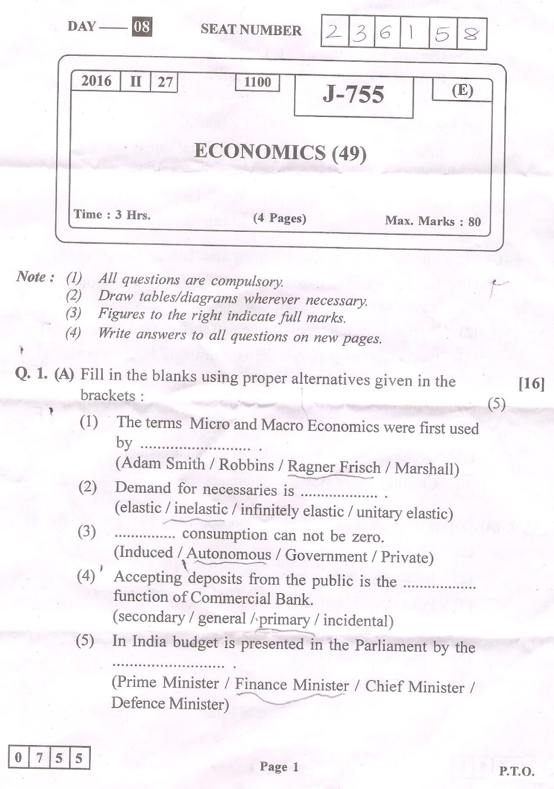 Labour Economics Paper       Old  Solved and Guess Papers