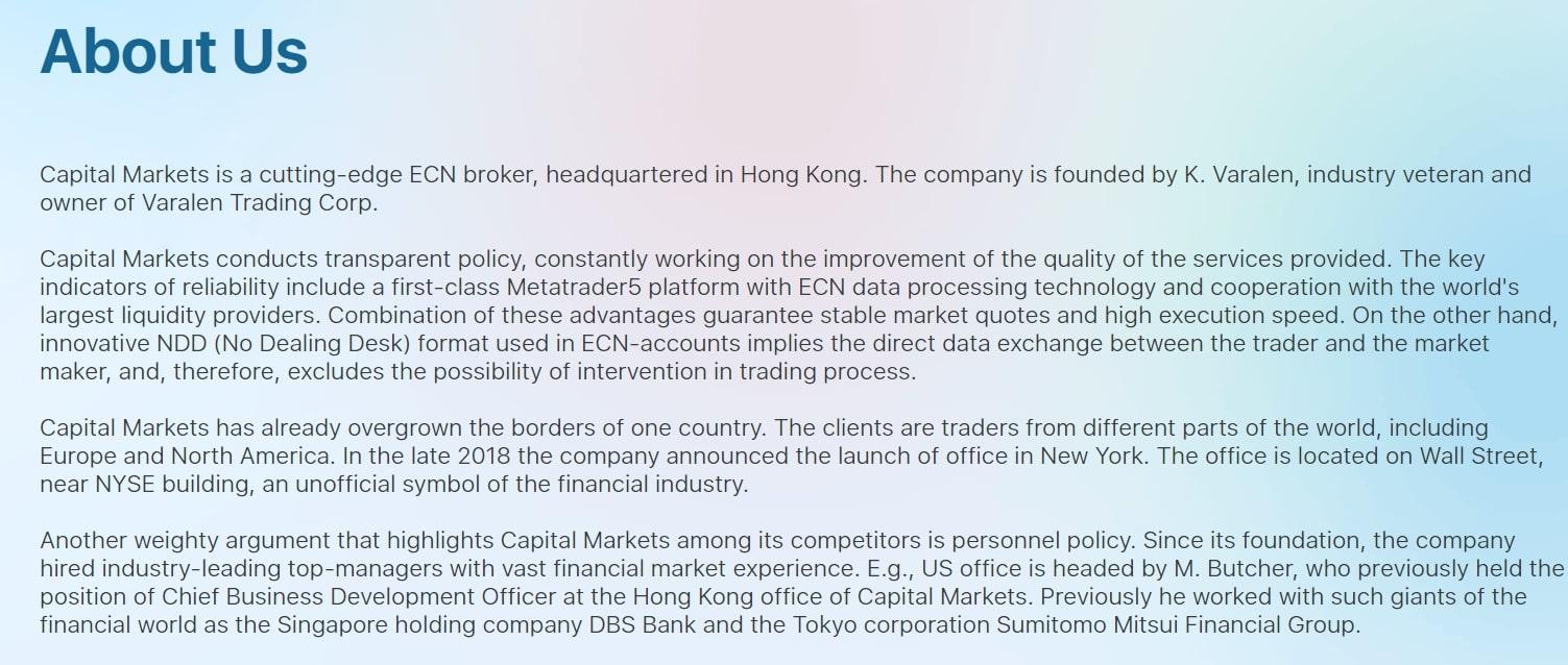 Честный обзор Capital Markets и реальные отзывы трейдеров реальные отзывы