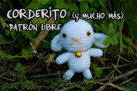 Cordero, oveja, amigurumi patrón gratis - Enemy Dolls