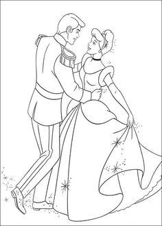 A valentine couple dance coloring page