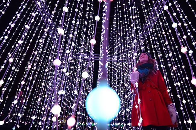 Sự kiện khởi động Giáng sinh ở Vườn Kew, tây nam London.