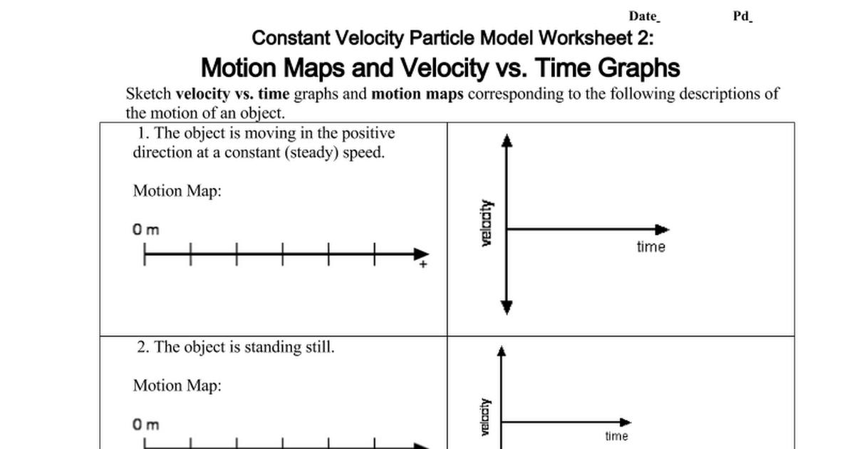 Copy Of U2w2 Motion Maps And Velocity Vs Time Graphs Google Docs