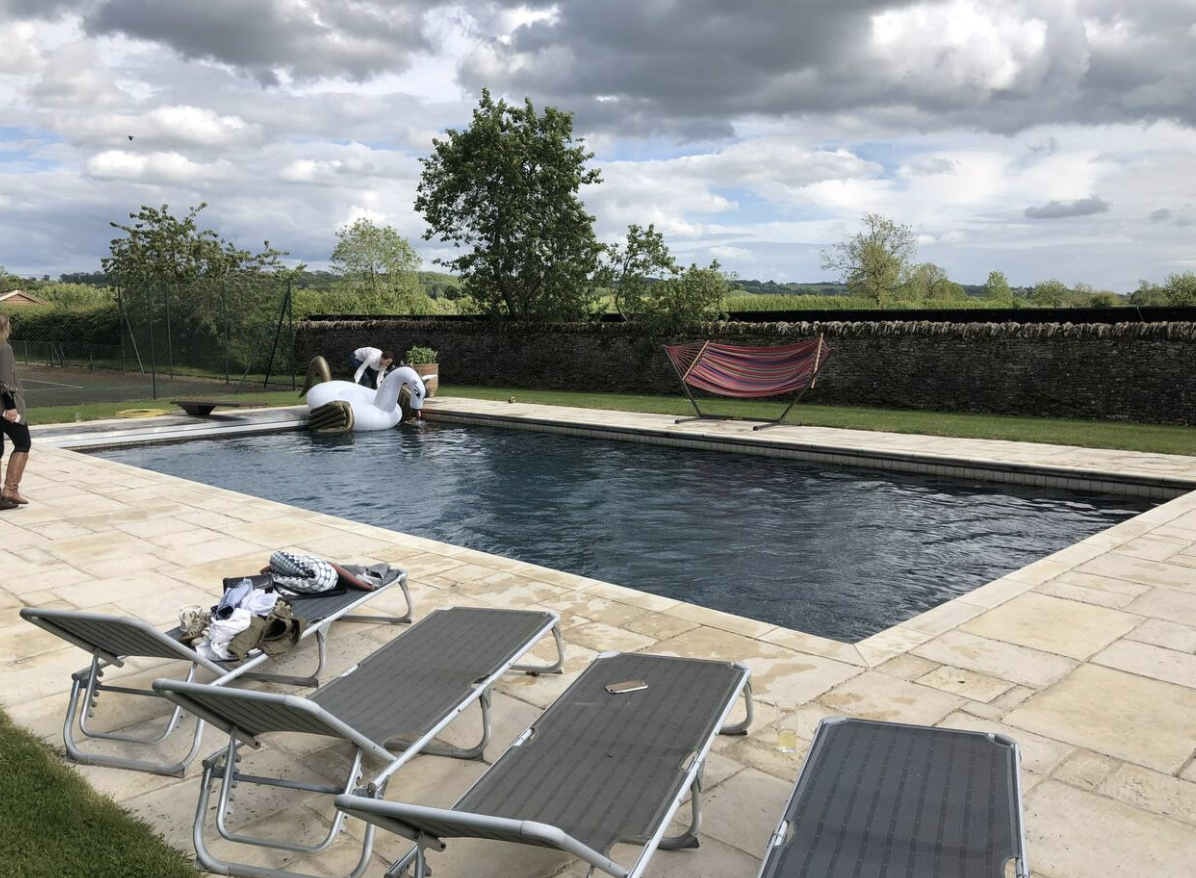 Swimming pool at Hyde Mill Cottage