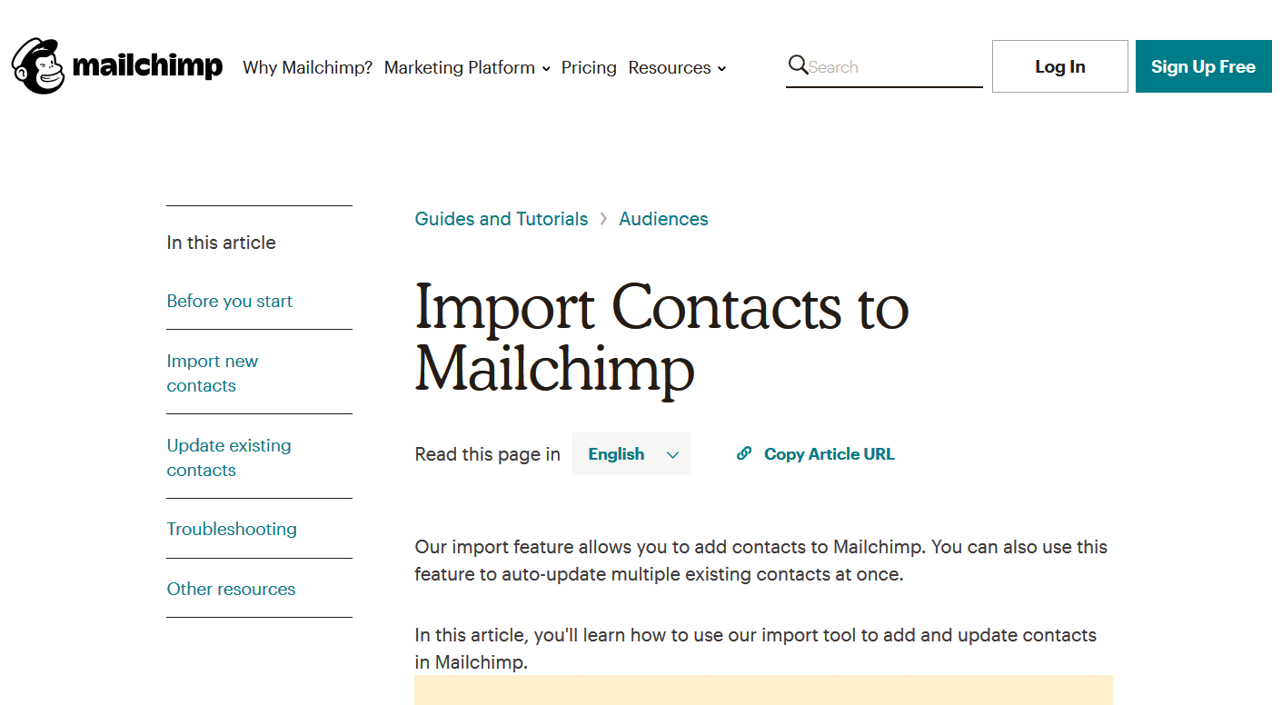 Mailchimp knowledge base - HelpCrunch blog