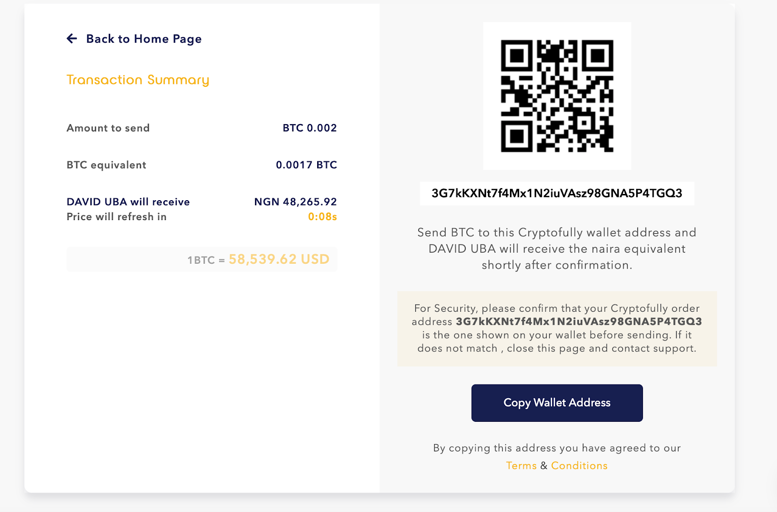 Cryptofully app payment