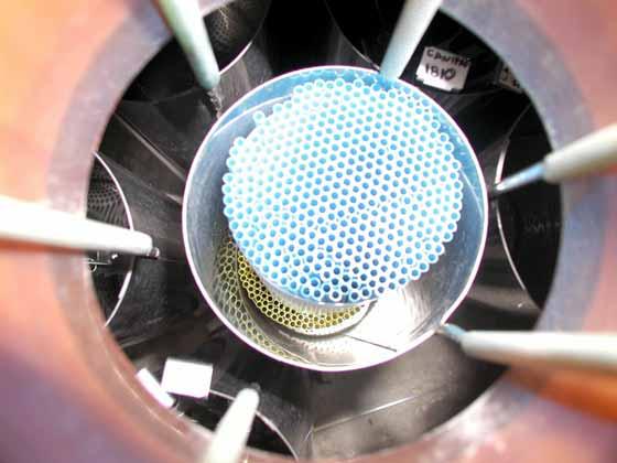 Liquid nitrogen storage tank with 2-level bulk straw storage and canisters.