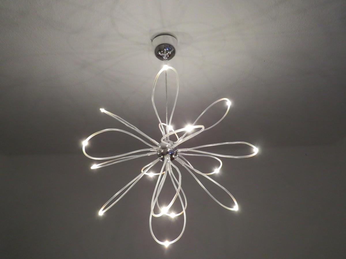 branch, rope, light, petal, ceiling, lamp, lighting, modern, circle, light fixture, hose, led, chandelier, ceiling lamp, diodes, ceiling lighting, led lamp, led tube