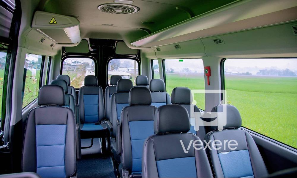 Nội thất xe Thai Travel Bus đi Ninh Bình từ Mai Châu