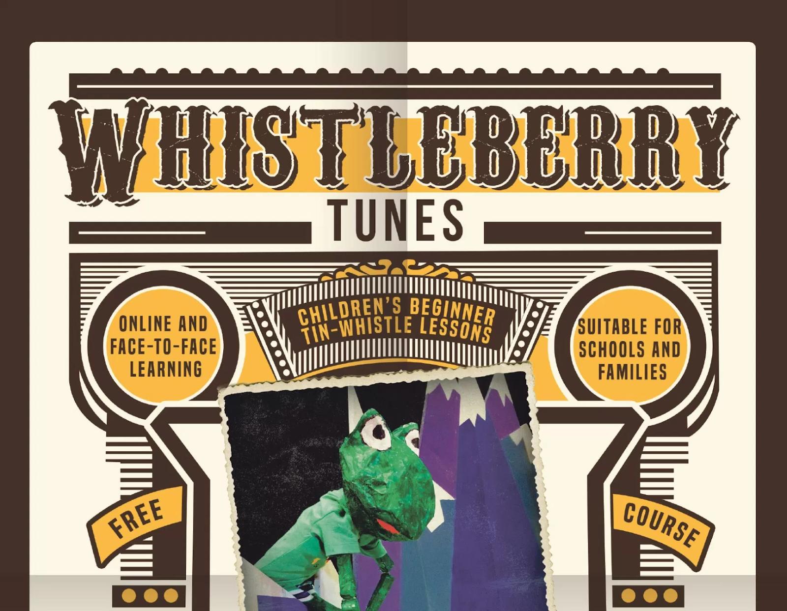 Dabbledoo Music - Whistleberry tunes - learn tin whistle