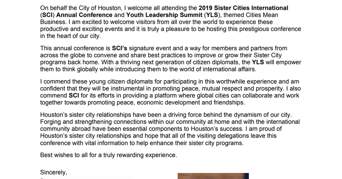 2019 Sister Cities International Annual Conference July 17