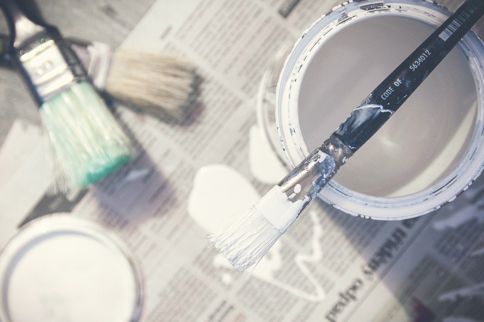Paint, Brushes, Bucket, Paint Can, White