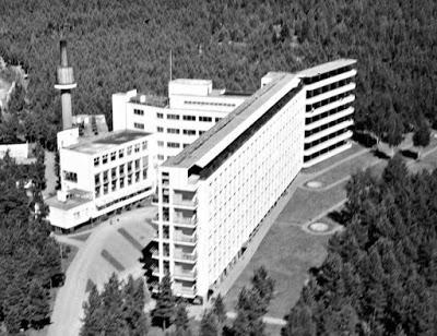Imagen aérea del sanatorio de Paimio
