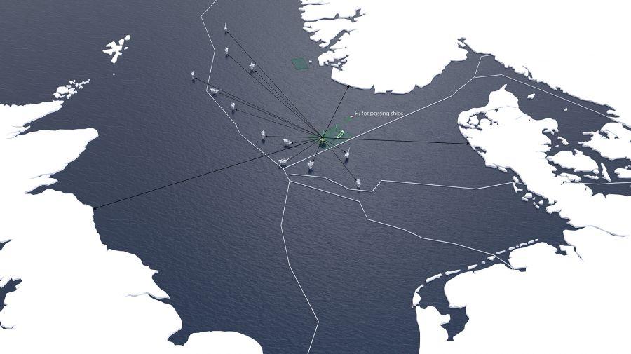 Karte Seewind Nordsee