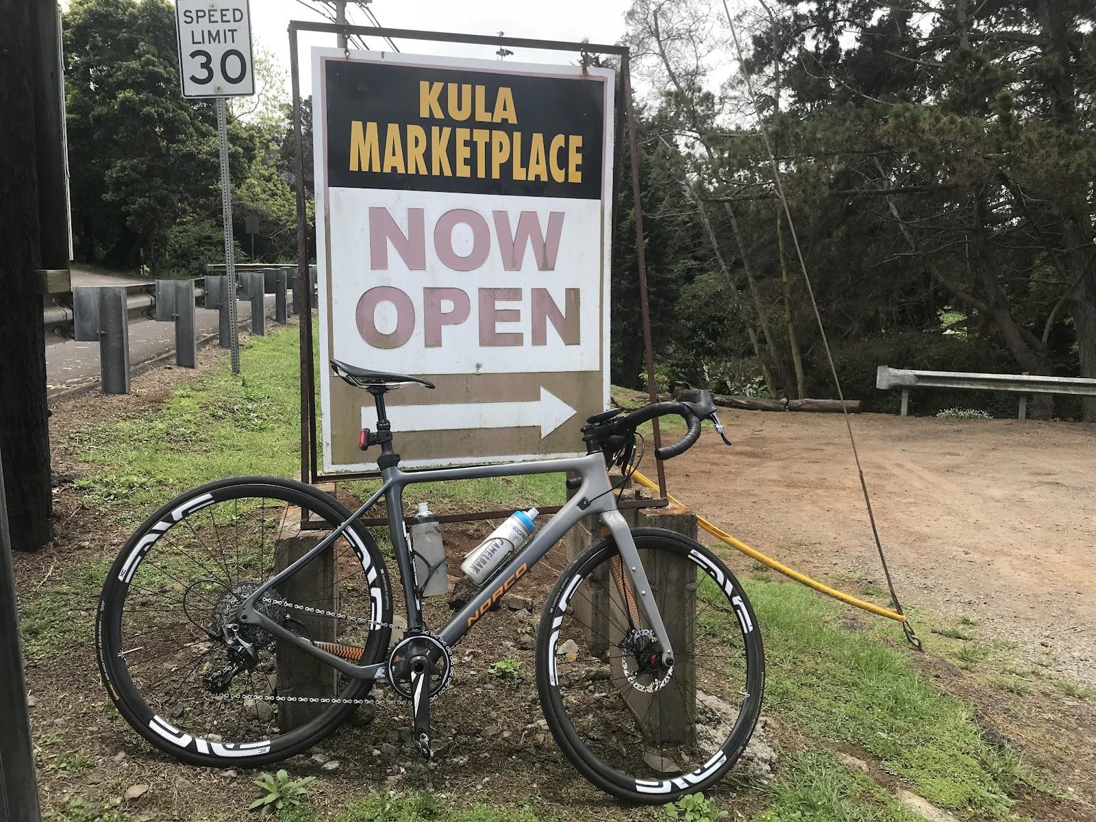 Cycle to Kula Marketplace for rest on way to Haleakala