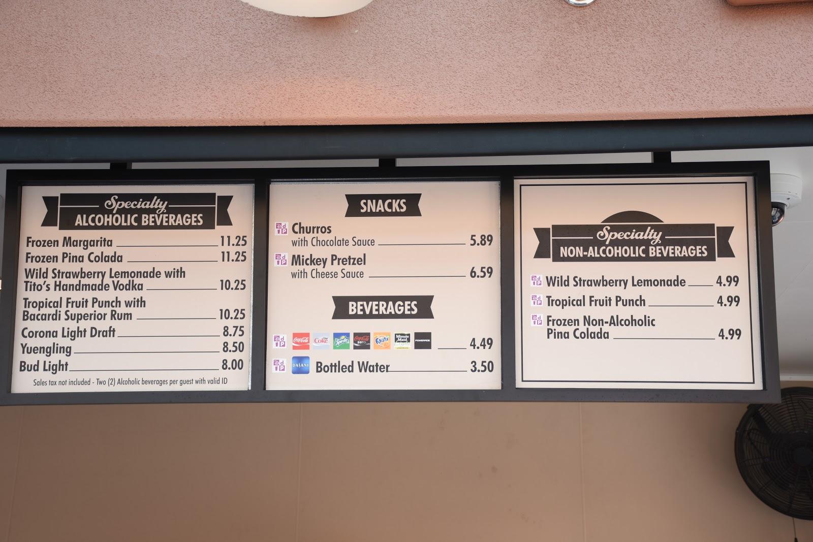 Disney Food Prices