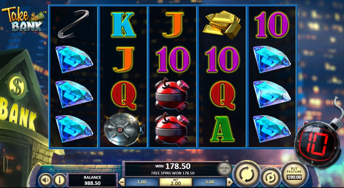 Play Take the Bank Video Slot by Betsoft for Real Money at Scatters Casino