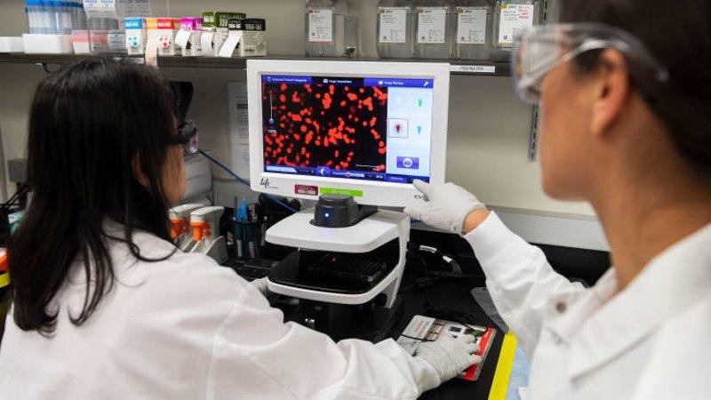 Учені Novavax працюють у лабораторії Меріленда.