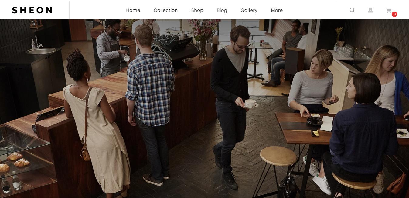Sheon - Coffee shop shopify theme