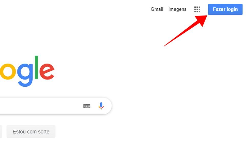 Faça login no Google usando a mesma conta titular da empresa — Foto: Reprodução/Paulo Alves