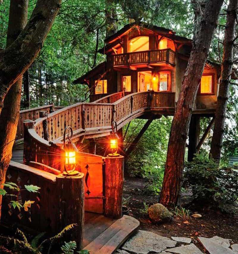Image result for backyard treehouse