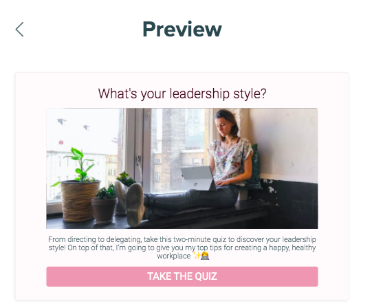 Preview of What's your leadership style quiz cover