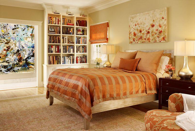 monochromatic orange style bedroom