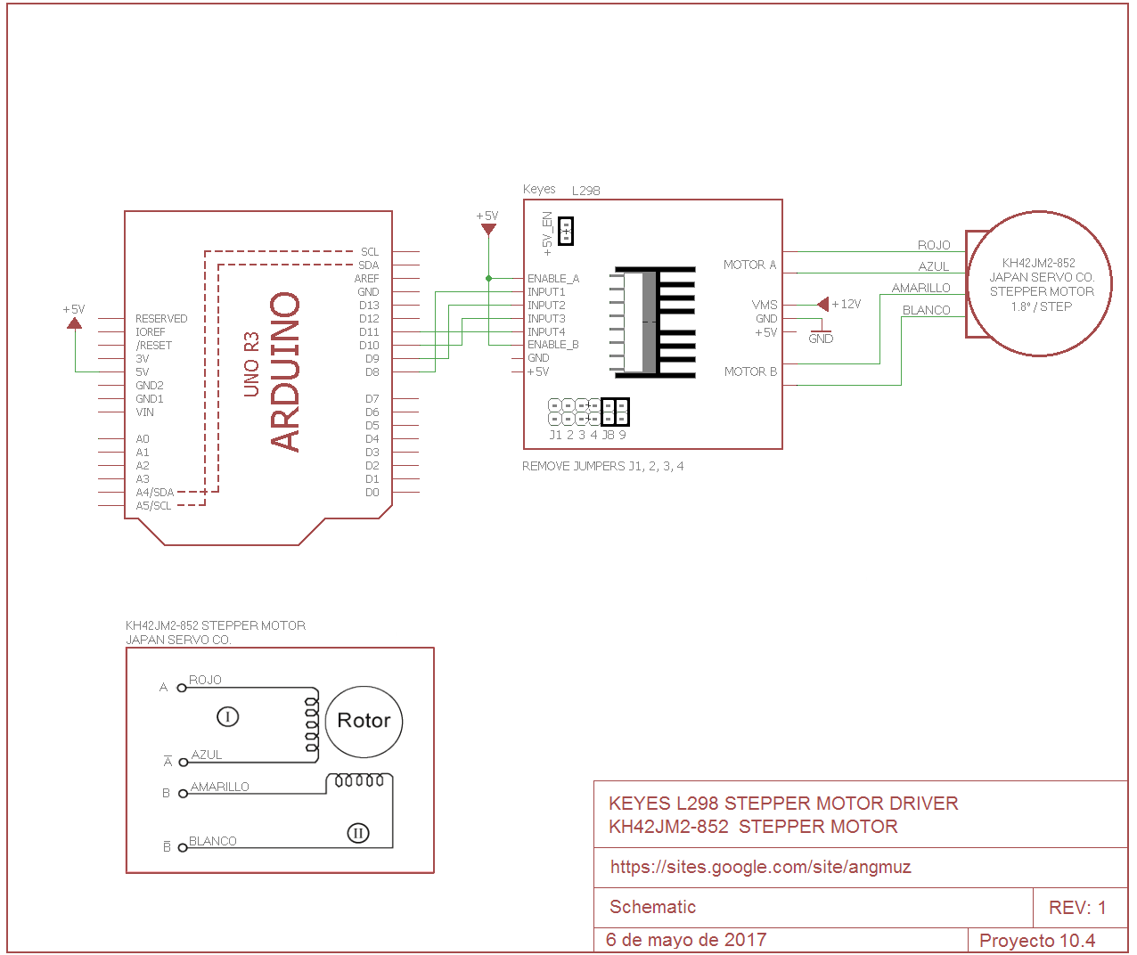 Maximo Ingenio: Keyes L298 Stepper Motor Driver on