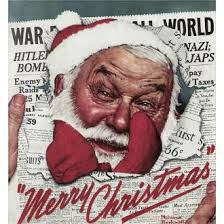 Santa in the News Norman Rockwell