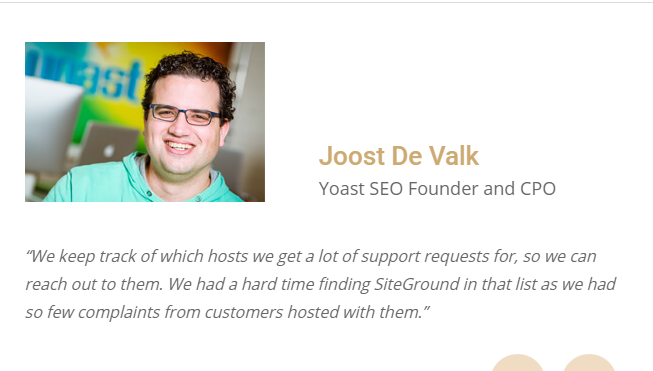 SiteGround StartUp Plan review by Yoast SEO Founder
