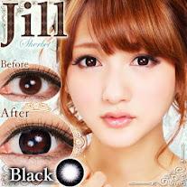 コンビニ払い対応★Jill (ジル)Sherbet ブラック度あり&度なしカラコンブラック黒コン 商品画像