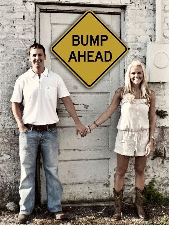 2. A cute bump ahead for the family.