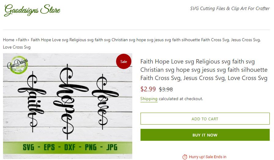 Gaodesigns Store - Faith Hope Love Svg file for cricut