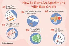 how to find apartment with bad credit